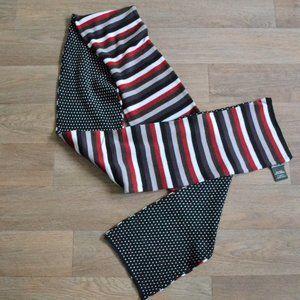Eddie Bauer Duo Patterned Striped Polka Dot Scarf